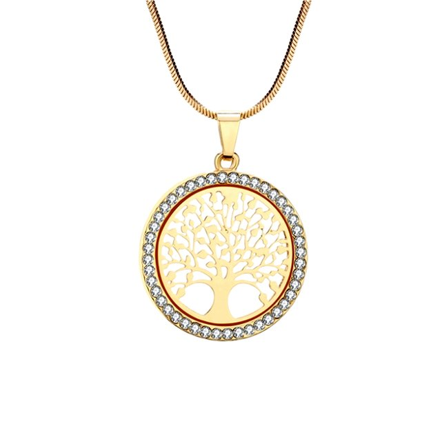Necklace woman tree of life premium V3 gold color
