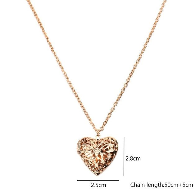 Necklace Double Heart Golden 4 First Name Peter Birth Gift Box